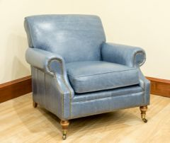 Greenbrier Leather Caster Chair (Quote)