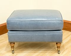 Greenbrier Leather Caster Ottoman (Quote)