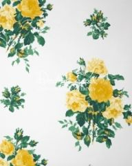 Dorothy Draper - Vintage Rose Wallpaper (Yellow)