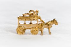Greenbrier Horse & Carriage Charm- 14K Gold