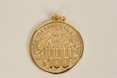 Casino Club at the Greenbrier $100 Chip Charm- 14K Gold