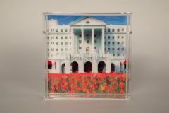 Greenbrier Front Entrance Tulips Lucite Tray - Large