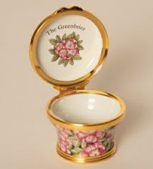 The Greenbrier Custom Rhododendron Enameled Box