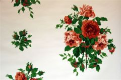 Dorothy Draper- Vintage Rose Wallpaper (Red)